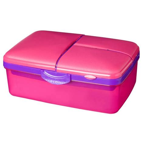 Lunch Box Kertas Ukuran Medium morrisons sistema lunch slimline quaddie lunchbox with bottle 1 5 l pink purple product