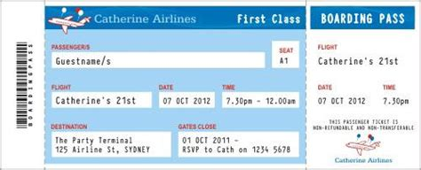 Airline Ticket Invitation Template Orderecigsjuice Info Airline Ticket Invitation Template