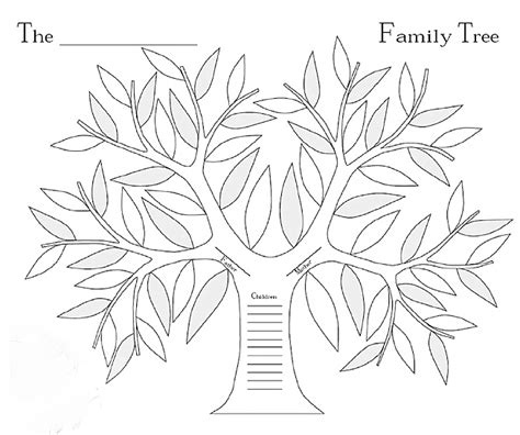 printable coloring page family tree tree without leaves silhouette google search tree