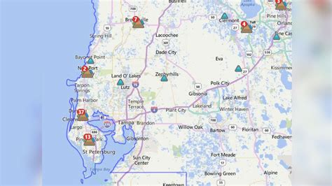 power outage map florida power outages in the area wtsp