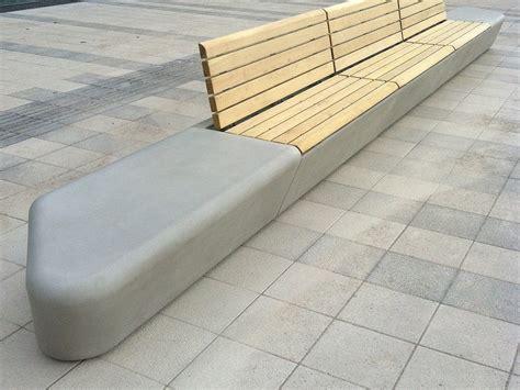 bench site design modular grc bench arpa by concrete urban design design