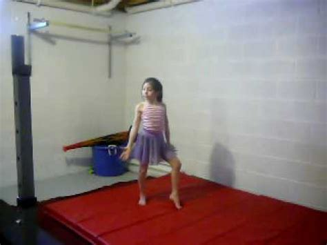 9yr home gymnastics routine