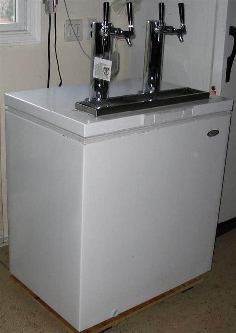 built in kegerator diy kegerator built into chest fridge bar tools