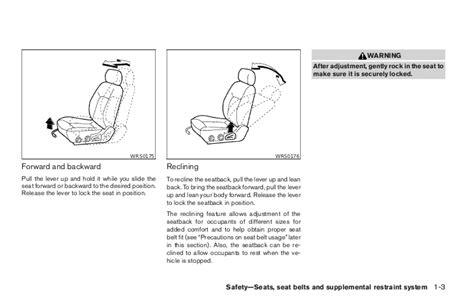 vehicle repair manual 2000 nissan pathfinder seat position control 2005 pathfinder owner s manual