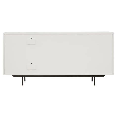 White Sliding Door Cabinet Manfred Modern White Lacquer Walnut Sliding Door Cabinet Kathy Kuo Home