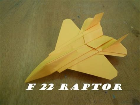 Origami F 22 Raptor - how to fold a paper origami my crafts and diy