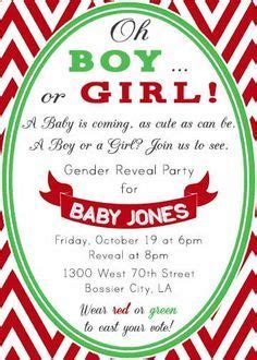 christmas gender reveal party red and green boy or girl