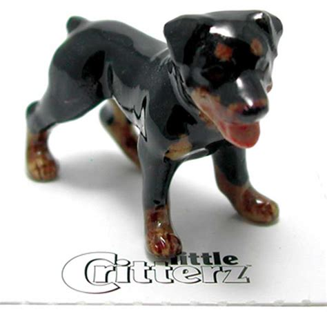 rottweiler figurines rottweiler painted porcelain miniature figurine