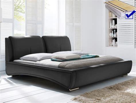 günstige schlafzimmer komplett mit lattenrost und matratze polsterbett syrus bett 180x200 schwarz mit lattenrost