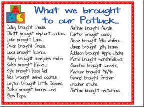 Potluck Food List Template Gallery For Gt Potluck Food List