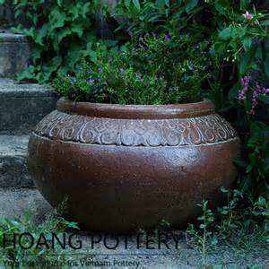 Black Outdoor Planters Quality Black Clay Planter Outdoor Decor Hphp050 Hoang