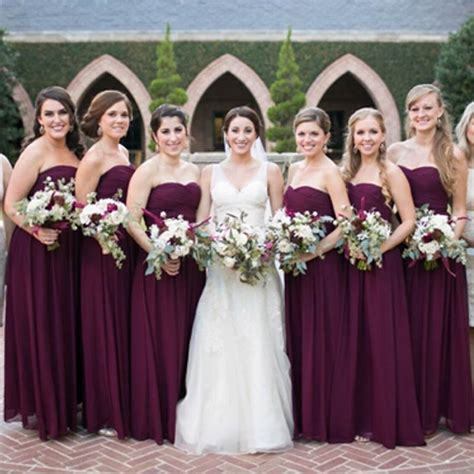 2016 bridemaids dresses grape purple maroon cheap high quality bridesmaid gowns ruched