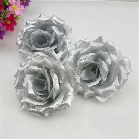Popular Silver Silk Flowers Buy Cheap Silver Silk Flowers lots from China Silver Silk Flowers