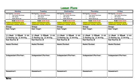 lesson plan template read 180 esl teacher planner templates calendar template 2016