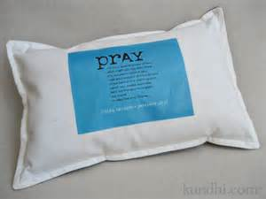 handmade baptism gift prayer pillow