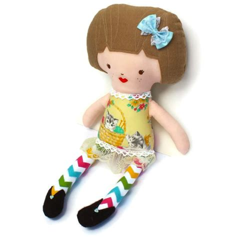rag doll with hair doll rag doll with light brown hair light yellow