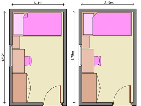 kids bedroom layouts   bed