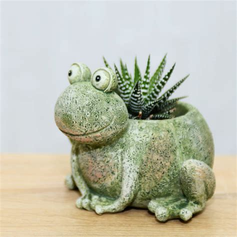 Frog Planter by Frog Planter With A Plant By Dingading Terrariums