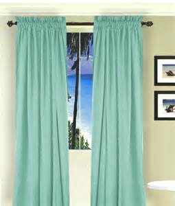 3 Inch Rod Pocket Valances Mint Green Long Curtain Set