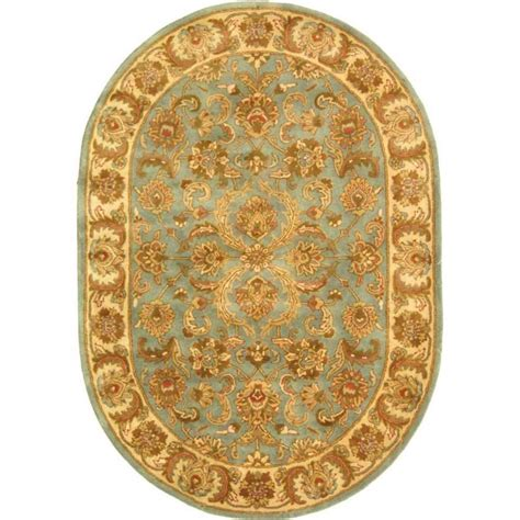 oval accent rugs safavieh heritage blue beige 7 ft 6 in x 9 ft 6 in