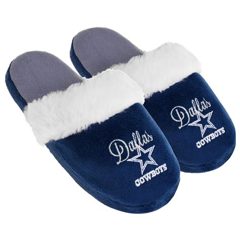 dallas cowboys slippers nfl s dallas cowboys navy white scuff slipper