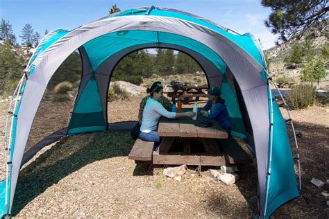 coleman gazebo with awning the best canopy tent for cing and picnics the wirecutter