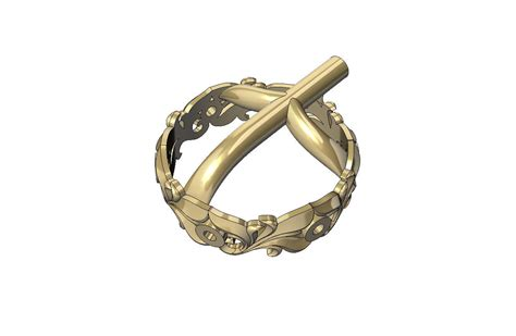 wedding ring with gemstones 004 3d model 3d