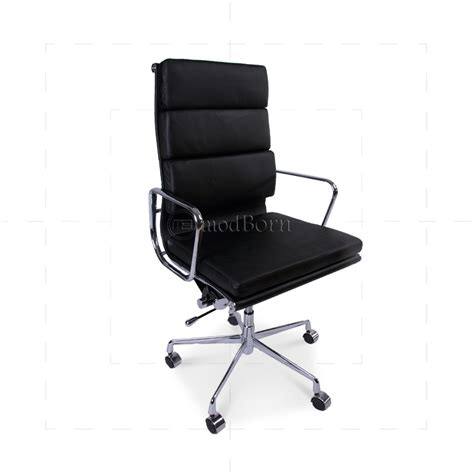 eames office furniture ea219 eames style office chair high back soft pad black leather