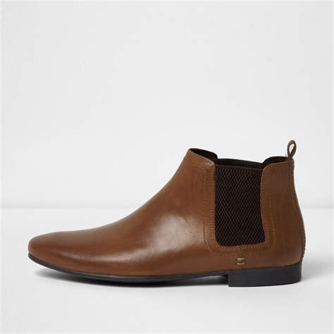 leather boots sale brown leather chelsea boots shoes boots sale men