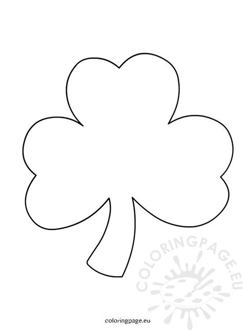 printable shamrock images shamrock coloring page printable
