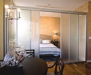 studio bedroom glass door for separation doors