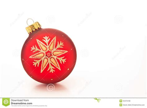 red christmas bauble stock photo image 34475190