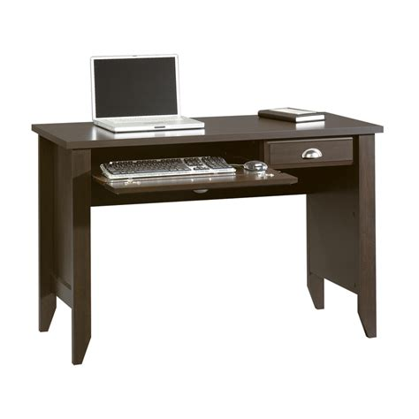 Wood Laptop Desk Shop Sauder Shoal Creek Jamocha Wood Computer Desk At Lowes