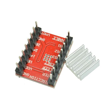 Original Chip A4988 Stepper Driver Heatsink 3d Printer Cnc Shield 5pcs a4988 stepper motor driver module 3d printer polulu stepstick rs reprap ebay