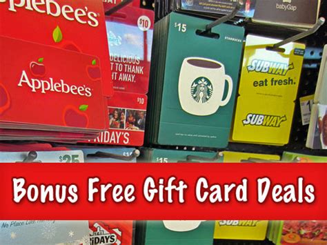 Applebee S Gift Card Special - free bonus gift card deals 2012 applebee s outback more coupons and deals