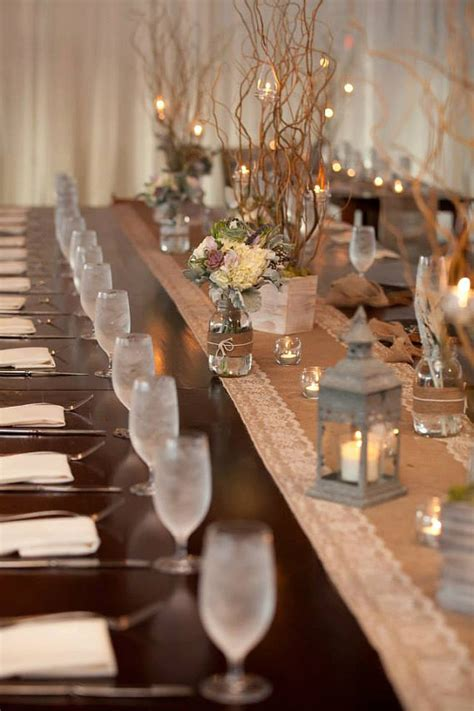 Burlap Wedding Table Decorations by Southern Blue Celebrations Burlap And Lace Wedding Decor