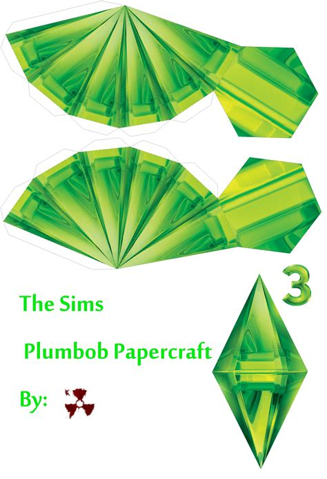 the sims plumbob papercraft by killero94 on deviantart