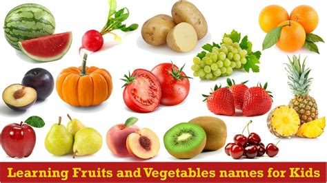 r fruits and vegetables learning fruits and vegetables names for
