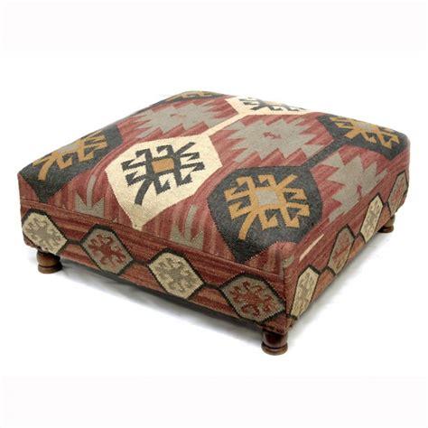 kilim ottoman coffee table square wool kilim jute coffee table ottoman kilim