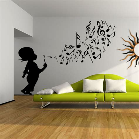 Musical Note Wall Stickers stickers enfant musique pas cher