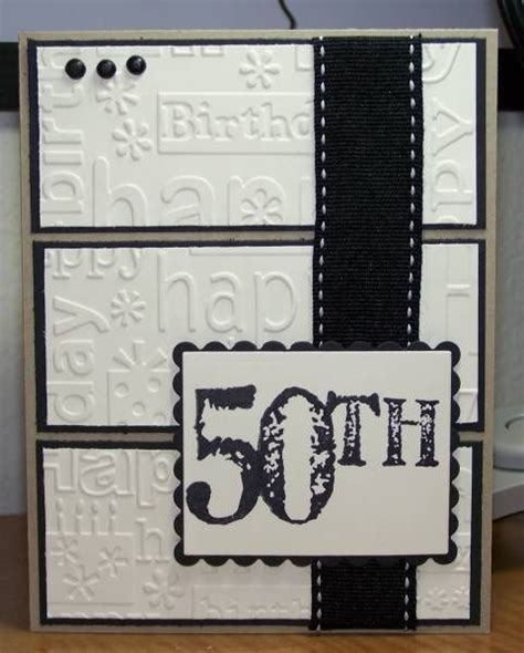 Handmade 50th Birthday Card Ideas - 17 best images about darice embossing folders on
