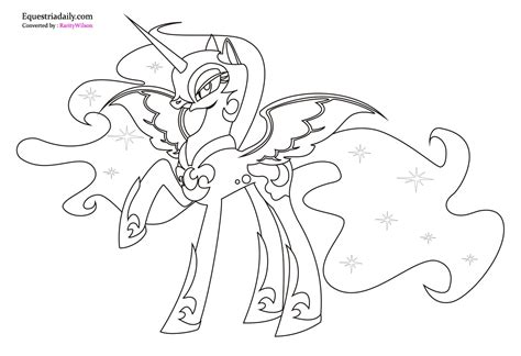 My Little Pony Coloring Pages Nightmare Moon | nightmare moon coloring pages team colors