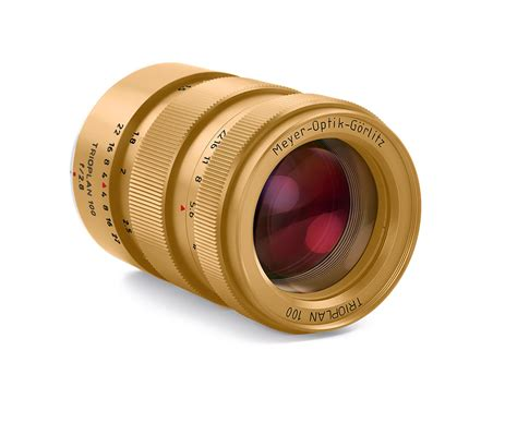 new lens new meyer optik titanium and gold plated limited edition