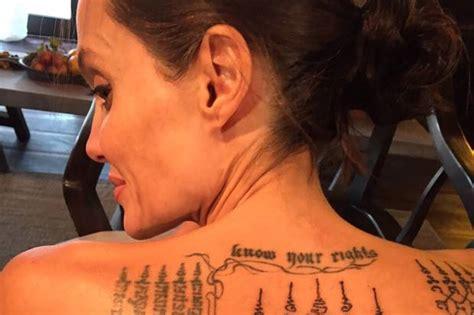 angelina jolie tattoo blut und eisen angelina jolie brad pitt mit tattoos wollten sie ihre