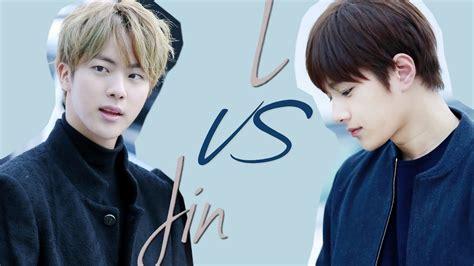 bts visual visual battle l myungsoo infinite vs jin bts youtube