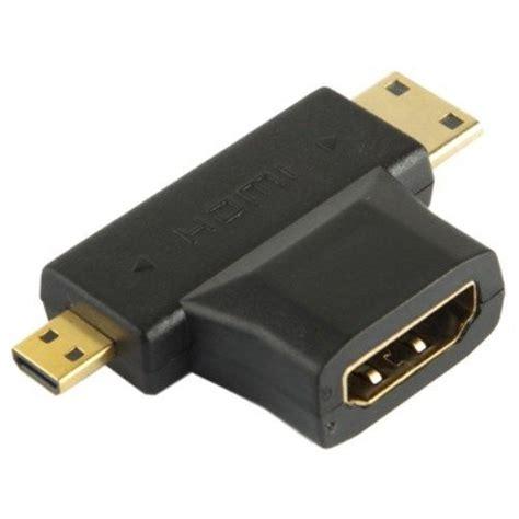 3 In 1 Hdmi Converter Mini Mikro Hdmi 3 in 1 hdmi to micro mini hdmi adapter connecter