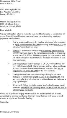 prepare hardship letter mortgage lender