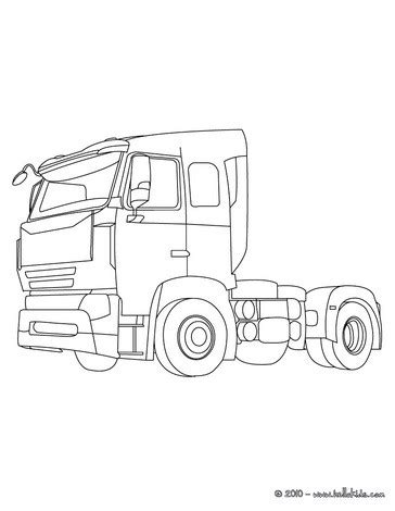 Tractor Trailer Coloring Pages Hellokids Com Tractor Trailer Coloring Pictures