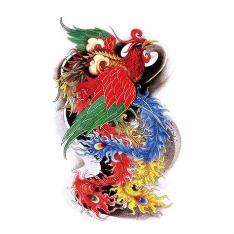 phoenix tattoo neo traditional neo traditional multicolor phoenix on dark background