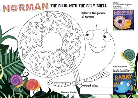 norman the slug with the silly shell books norman colouring scholastic club